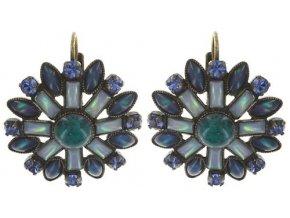 Ethnic Mosaic - modrá/zelená Náušnice > Klasickézapínání - 5450543104607