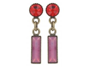 Baguette Couleur - růžová Náušnice > Puzety - 5450543114071