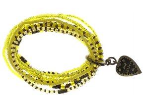 Petit Glamour d´Afrique - žlutá Náramky > Elastické - 5450543117584