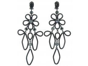 Cathedral Flower - černá Náušnice > Klipsy - 5450543119281