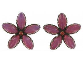 Twisted Flower - červená Náušnice > Puzety - 5450543128382