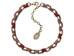 African Glam - hnědá/fialová Náhrdelníky - 5450543130545