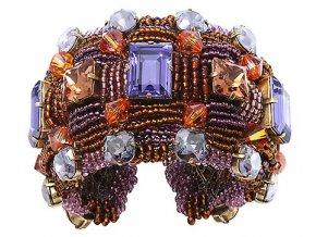 African Glam - hnědá/fialová Náramky > Pevné - 5450543146454