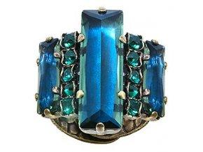 Manhattan Rocks - modrá/zelená Prsteny - 5450543149585