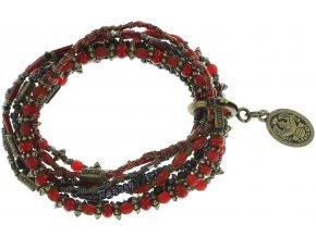 Petit Glamour d´Afrique - černá/červená Náramky > Elastické - 5450543164557