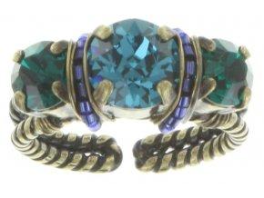 Byzantine - modrá/zelená Prsteny - 5450543167053