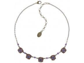 Byzantine - hnědá/fialová Náhrdelníky - 5450543168425