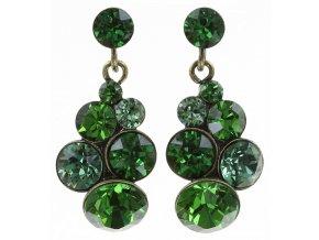 Petit Glamour - zelená Náušnice > Puzety - 5450543180649