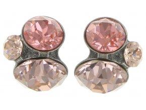 Disco Star - beige/pink Náušnice > Puzety - 5450543181134