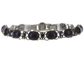 Ovaly - modrá Náramky > Klasické - 5450543195094