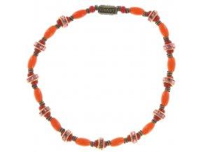 Glamour d'Afrique - oranžová/řervená Náramky > Elastické - 5450543220109