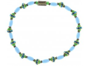 Glamour d'Afrique - modrá/zelená Náramky > Elastické - 5450543220154