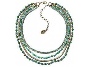 Glamour d'Afrique - zelená Náhrdelníky - 5450543221304