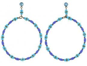 Glamour d'Afrique - modrá Náušnice > Puzety - 5450543221496