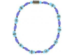 Glamour d'Afrique - modrá Náramky > Elastické - 5450543221700