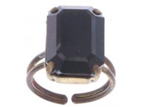 Baguette - černá Prsteny - 5450543225159