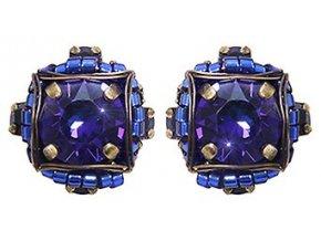 Byzantine - modrá/fialová Náušnice > Puzety - 5450543240091