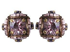 Byzantine - fialová Náušnice > Puzety - 5450543240336