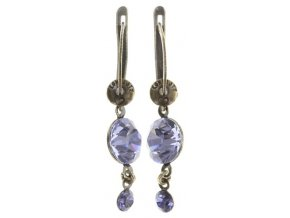 Dangling Tutui - fialová Náušnice > Francouzské zapínaní - 5450543243917