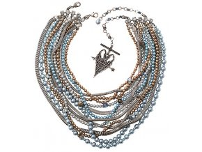 Chameleon - modrá/hnědá Náhrdelníky - 5450543245416