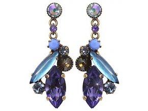 La Maitresse - fialová Náušnice > Puzety - 5450543253527