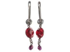 Dangling Tutui - červená/růžová Náušnice > Francouzské zapínaní - 5450543258263