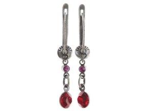 Dangling Tutui - červená/růžová Náušnice > Francouzské zapínaní - 5450543258270