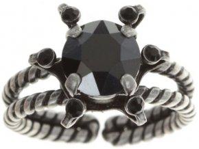 Petit Four de Fleur - černá Prsteny - 5450543271958