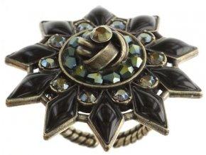 Arabic Nights - černá/zelená Prsteny - 5450543272221