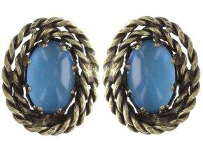 Twisted Lady - modrá Náušnice > Puzety - 5450543293417