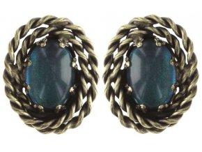 Twisted Lady - modrá Náušnice > Puzety - 5450543293424