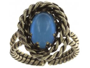 Twisted Lady - modrá Prsteny - 5450543293929