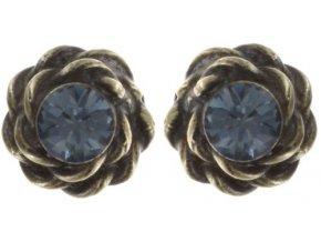 Twisted Lady - modrá Náušnice > Puzety - 5450543294001
