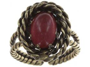 Twisted Lady - červená Prsteny - 5450543294216