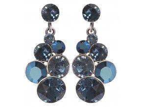 Petit Glamour - modrá Náušnice > Puzety - 5450543344256