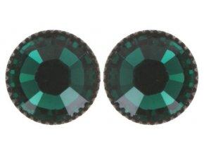 Black Jack - zelená Náušnice > Puzety - 5450527601221