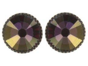 Black Jack - hnědá/fialová Náušnice > Puzety - 5450543261928