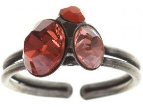 Disco Star - červená/oranžová Prsteny - 5450527966634