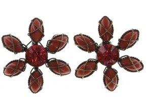 Psychodahlia - červená Náušnice > Puzety - 5450543217079