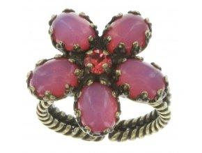 Twisted Flower - červená Prsteny - 5450543128443