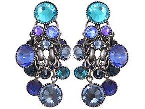 Waterfalls - modrá/fialová Náušnice > Puzety - 5450543238197