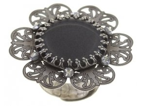 Flower Shadow - barva šedivá - Prsteny - 5450543700434