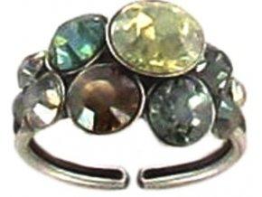 Petit Glamour - žlutá/zelená Prsteny - 5450527870467