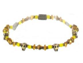 Petit Glamour d´Afrique - žlutá/hnědá Náramky > Elastické - 5450527886703