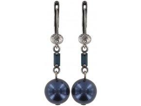 Pearl Shower - modrá Náušnice > Francouzské zapínaní - 5450543027371