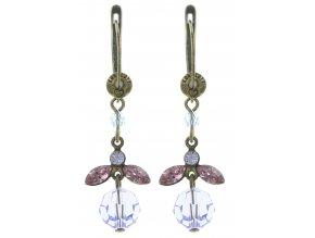 Marguerite - fialová Náušnice > Francouzské zapínaní - 5450543083025