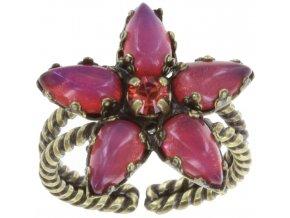 Twisted Flower - červená Prsteny - 5450543128412