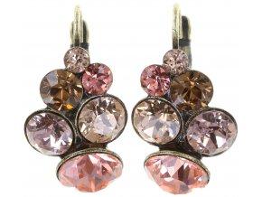 Petit Glamour - růžová Náušnice > Klasickézapínání - 5450543182841