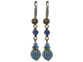 Oriental Bliss - modrá Náušnice > Francouzské zapínaní - 5450543225630