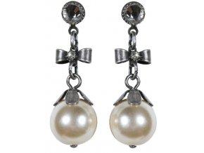 Pearl 'n' Ribbons - bílá Náušnice > Puzety - 5450527808125